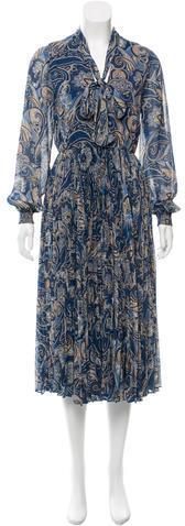 Alice + OliviaAlice + Olivia Pleated Paisley Print Dress w/ Tags