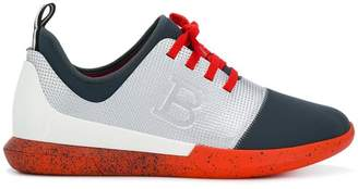 Bally contrast panel sneakers