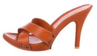 Giuseppe Zanotti Leather Slide Sandals