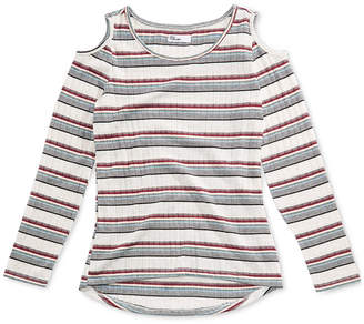 Epic Threads Big Girls Ribbed Cold Shoulder Top, Created for Macy's