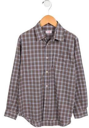 Il Gufo Boys' Plaid Button-Up Shirt