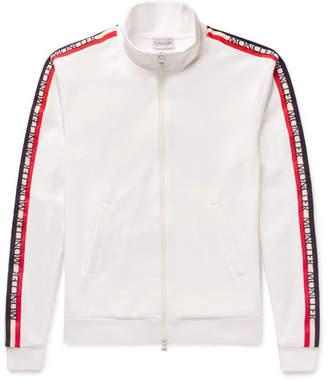 Moncler Grosgrain-Trimmed Jersey Jacket