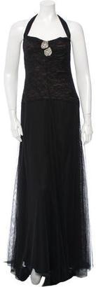 Vera Wang Lace Evening Dress $140 thestylecure.com