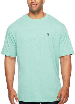 U.S. Polo Assn. USPA Mens Crew Neck Short Sleeve T-Shirt-Big and Tall