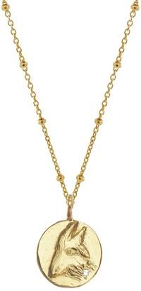 Yvonne Henderson Jewellery Gold Zodiac Necklace With White Sapphire - Capricorn