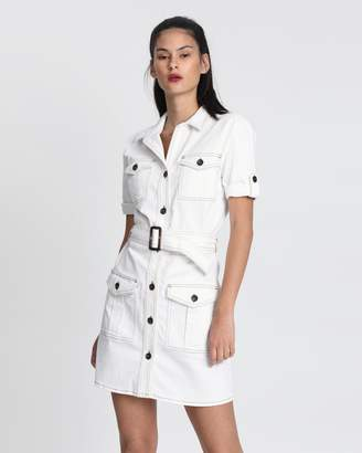 NA-KD Utility Short Sleeve Dress