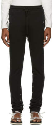 Christian Dada Black Side Stripe Lounge Pants
