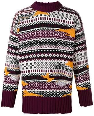 MSGM multi-knit sweater