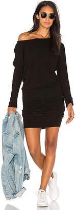 Monrow Blouson Off Shoulder Dress
