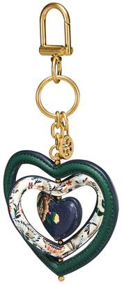 Tory Burch FLORAL HEART SPINNER KEY RING