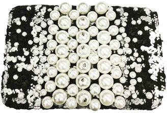 Sondra Roberts Crossbody Boucle with Pearl Applique
