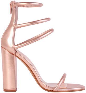 Siren Karlie Rose Gold Leather Sandal
