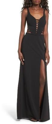 Women's La Femme Ladder Inset Gown $378 thestylecure.com