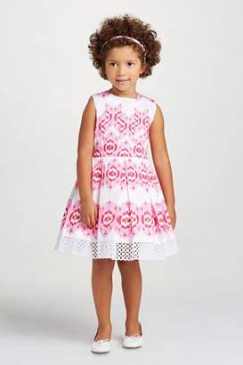 Oscar de la Renta Floral Print Party Dress