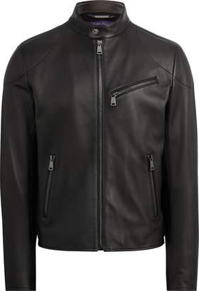 Ralph Lauren Randall Lambskin Biker Jacket