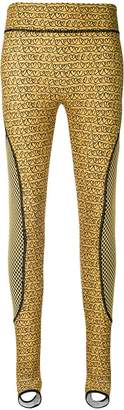 Fendi heart stirrup leggings