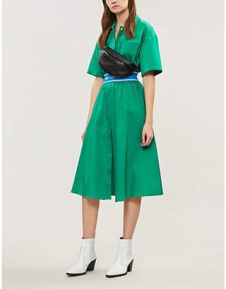 Sandro Sport stripe cotton shirt dress