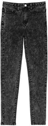 La Redoute Collections High Waist Snow Wash Skinny Jeans, 10-16 Years