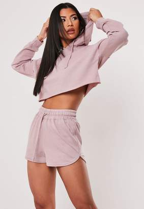 Missguided Petite Pink Oversized Hoodie And Shorts Co Ord Set