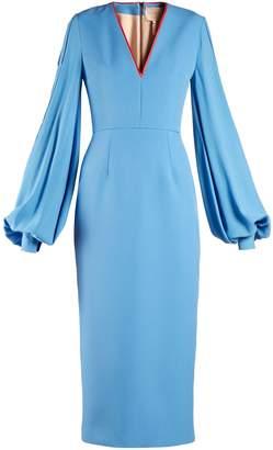 Roksanda Essi balloon-sleeve crepe-satin dress