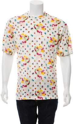 Versus Floral Printed Mesh T-Shirt