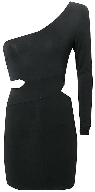 Lipsy Long Sleeve Cut Out Dress