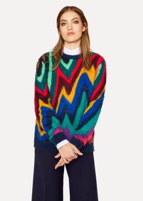 Paul Smith Women's Mohair-Blend 'Dreamer Stripe' Crew Neck Sweater