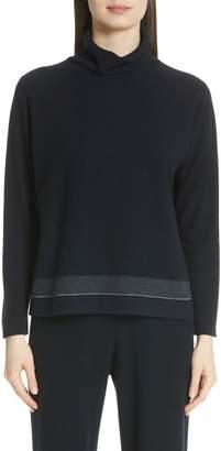 Fabiana Filippi Bead Detail Cashmere Turtleneck Sweater