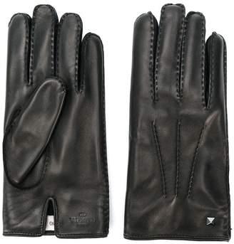 Valentino stud detail gloves