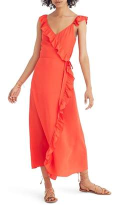 Madewell Ruffle Faux Wrap Maxi Dress