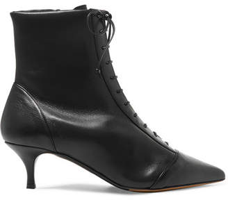 Tabitha Simmons Emmet Lace-up Leather Ankle Boots - Black