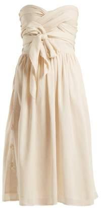 Loup Charmant - Pompano Cotton Dress - Womens - Cream