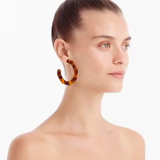 J.Crew Resin angled-hoop earrings