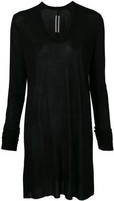 Rick Owens scoop neck T-shirt dress