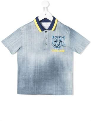 0bebd625dcaf Roberto Cavalli Junior degradé print polo shirt