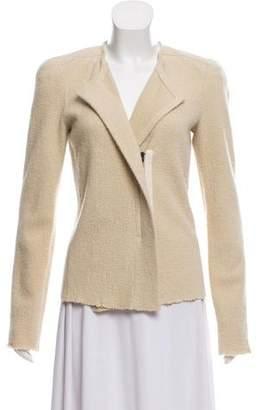 Isabel Marant Wool & Angora Blend Wrap Blazer