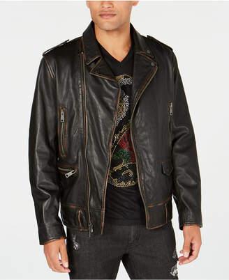 INC International Concepts I.n.c. Men's Carter Leather Jacket