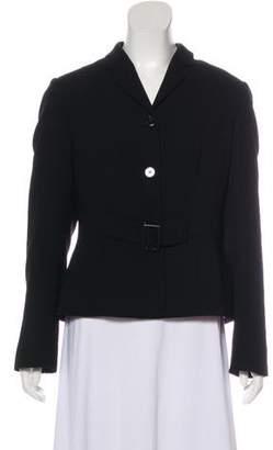 Calvin Klein Notch-Lapel Belt-Accented Blazer