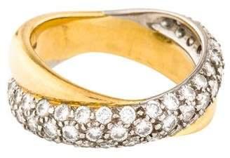 Tiffany & Co. 18K & Platinum Diamond Crossover Band