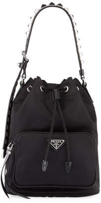 570c97f7b790 Black Handbag With Silver Studs - ShopStyle