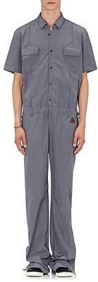 Off-White Men's Cotton-Blend Micro-Faille Jumpsuit