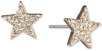DKNY Gold-Tone Pave Star Stud Earrings