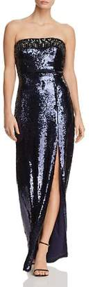 Aidan Mattox Strapless Embellished Sequin Gown