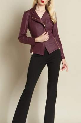 Clara Sunwoo Knit Leather Jacket