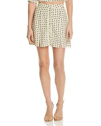 For Love & Lemons Sweetheart Mini Skirt