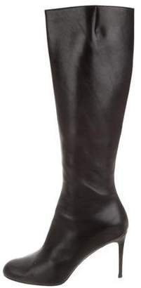 Christian Louboutin Round-Toe Knee-High Boots