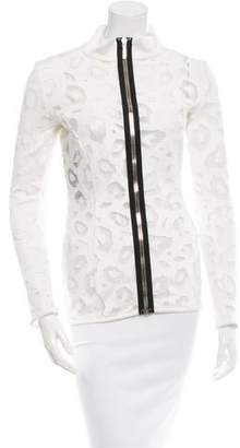 Anthony Vaccarello Mesh Cutout Top