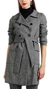 Barneys New York Women's Herringbone Trench Coat - Wht.&blk.