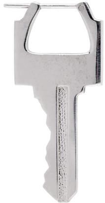 Lauren Klassen Silver Single Small Key Earring