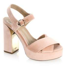 Tory Burch Loretta Velvet Platform Sandals